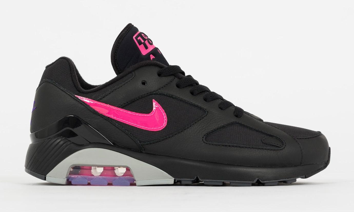 a1f9b301bea0 Nike Air Max 180  Black Pink Blast-Wolf Grey  AQ9974-001 Release ...