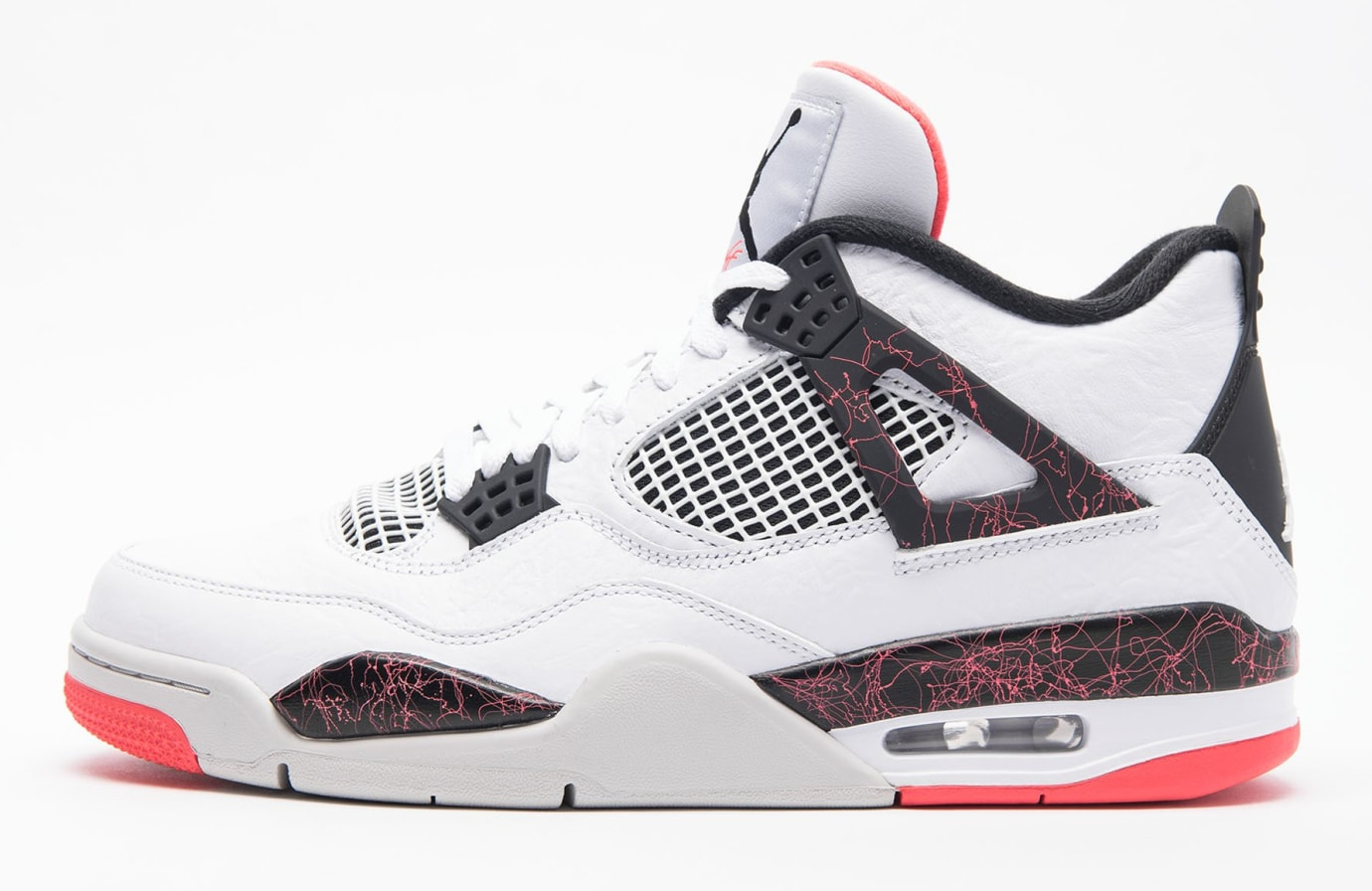 new product 78fac 3778e Air Jordan 4 Retro 'White/Black-Light Crimson-Pale Citron ...