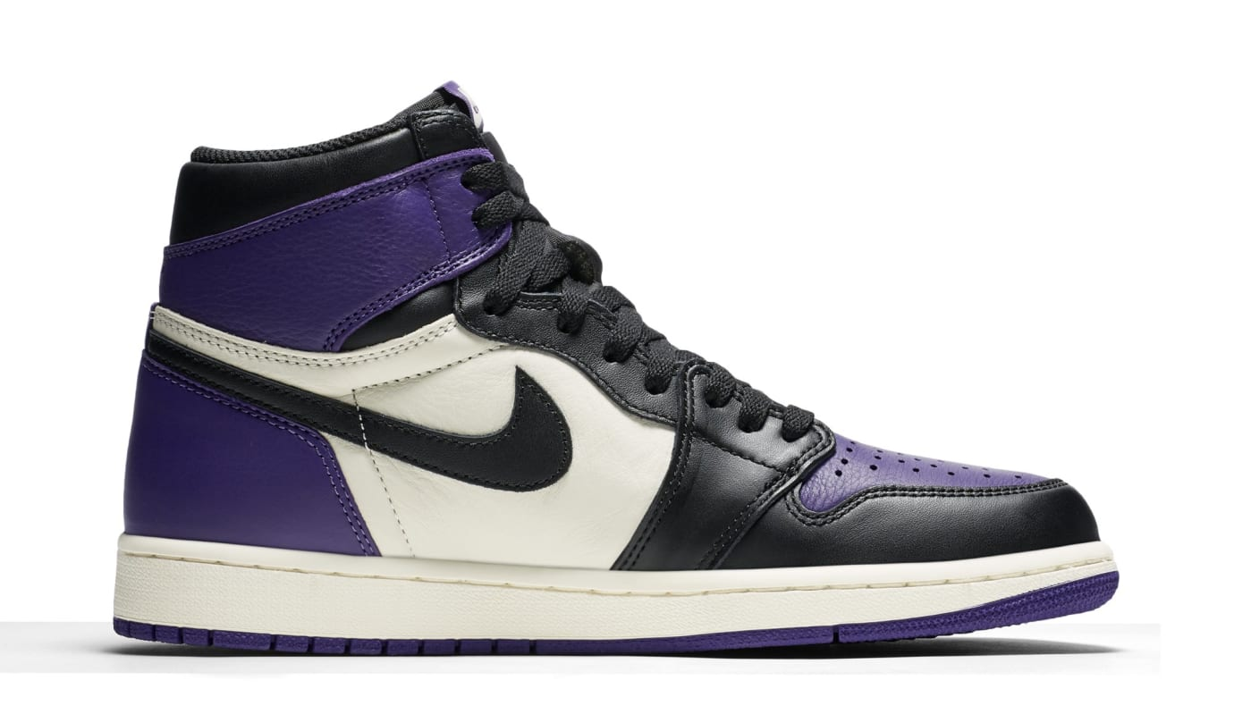 a93b25a05e33d Image via Nike Air Jordan 1 High OG  Court Purple  555088-501 (Medial)