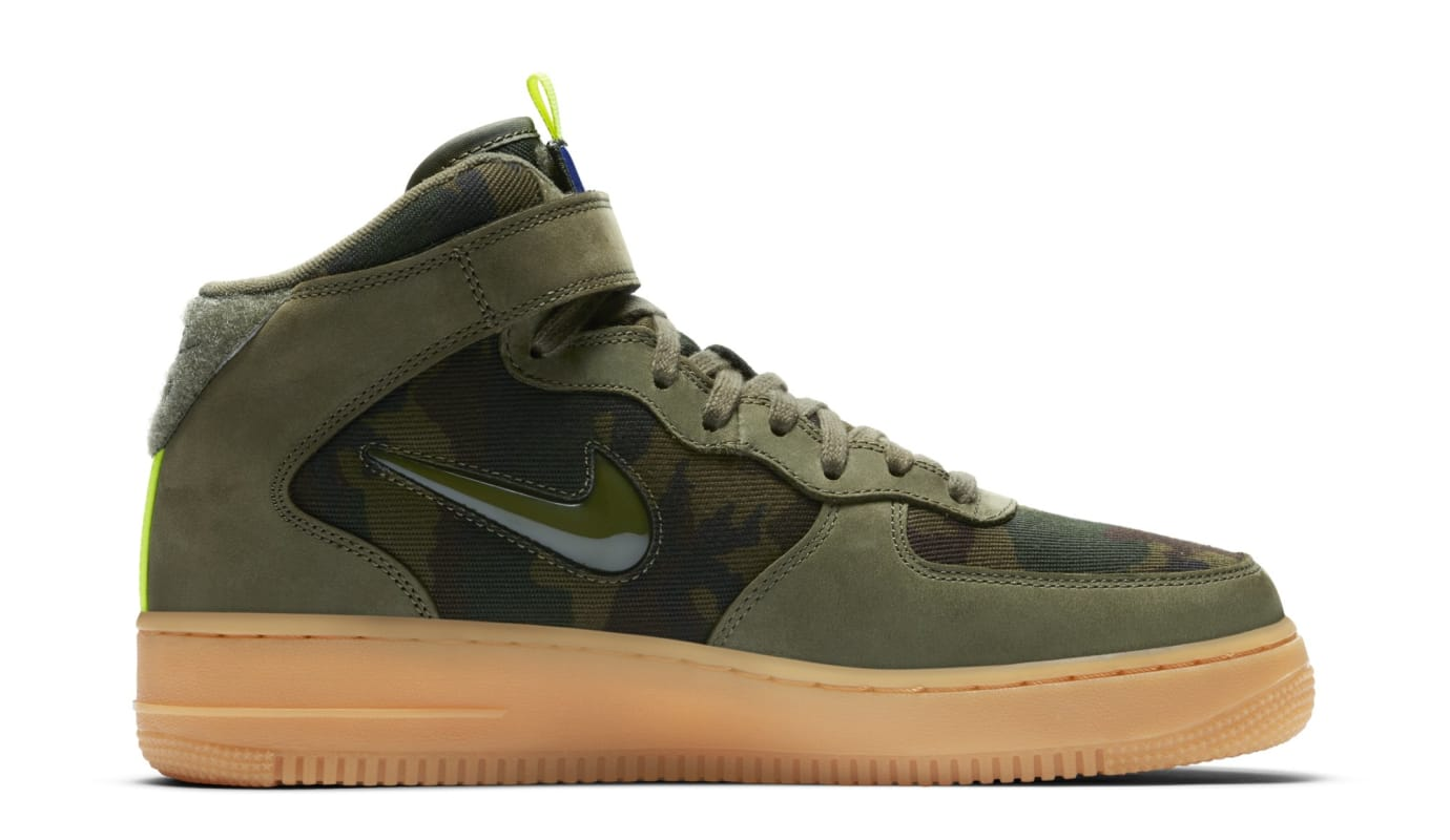 sale retailer 34f21 b8eee Image via Nike Nike Air Force 1 Mid  France Camo  AV2586-200 (Medial)