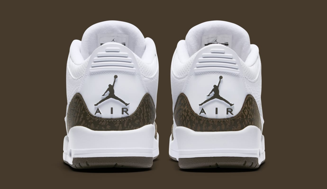 8c2084219aa Image via Nike Air Jordan 3 'Mocha' White/Chrome-Dark Mocha 136064-122 (