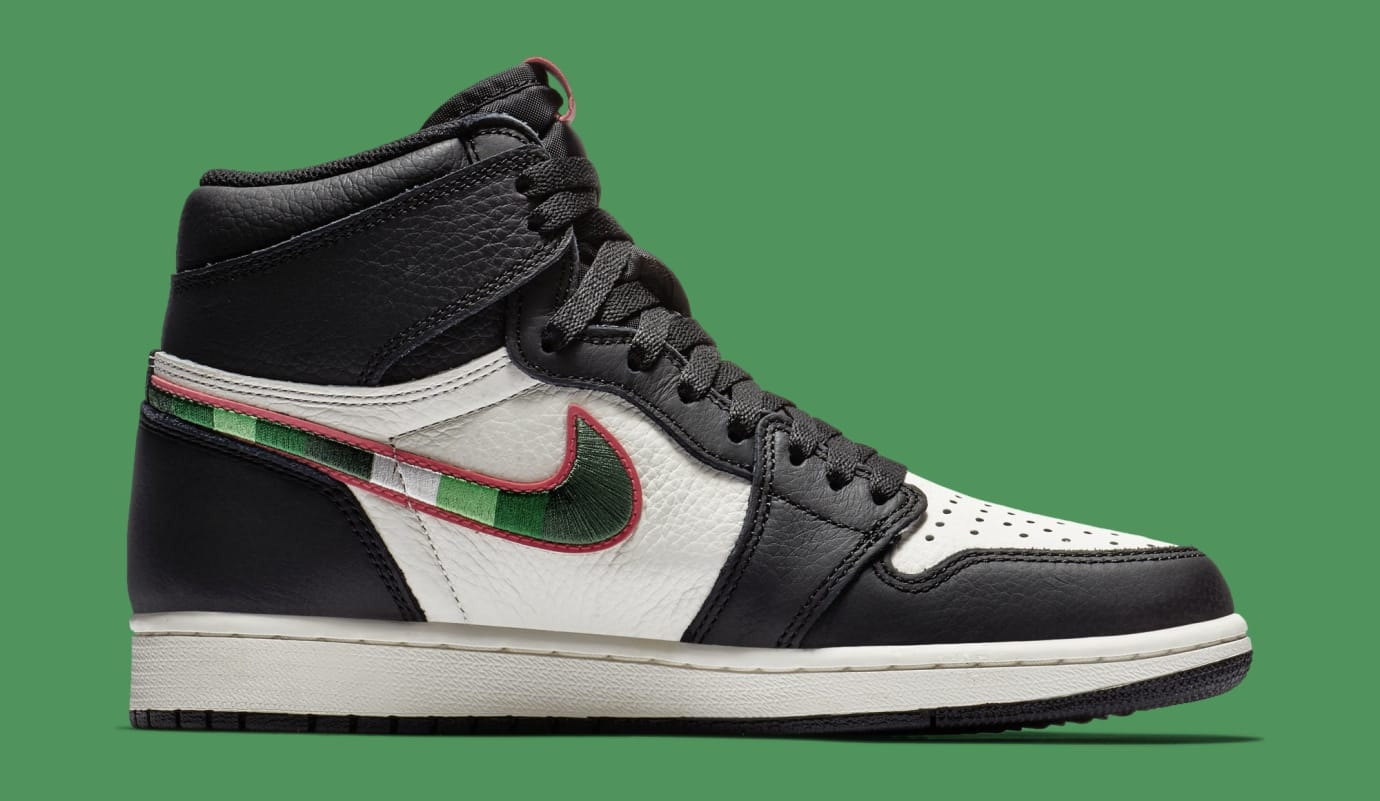Image via Nike Air Jordan 1  A Star Is Born  555088-015 (Medial) 25e8f36f0