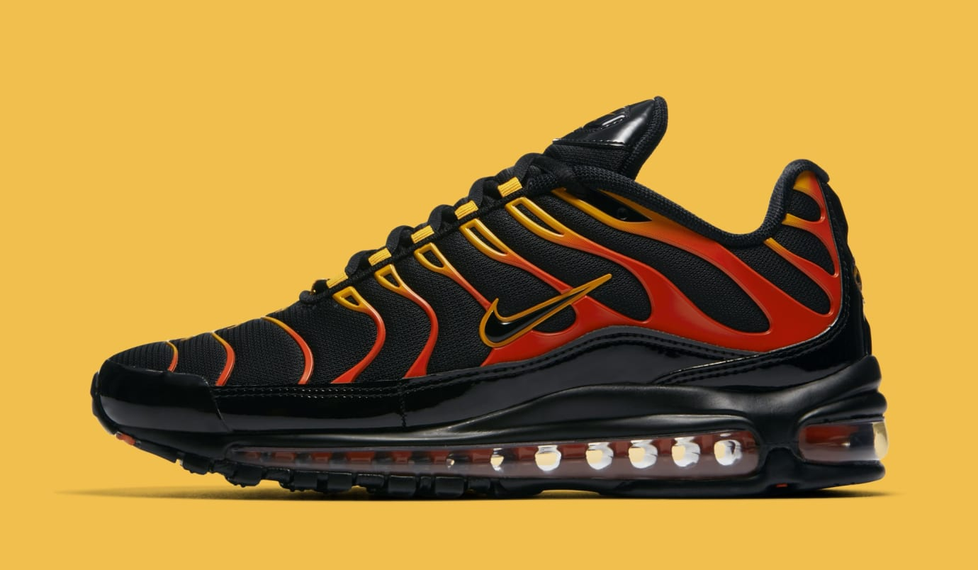 45ae791f396 Nike Air Max 97 Plus  Black Engine Shock Orange  AH8144-002 Release ...