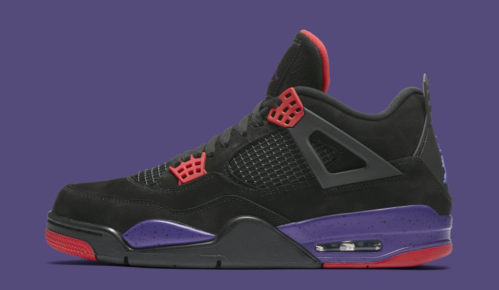29b86cece40263 ... On Feet Images Of Air Jordan 4 Retro Raptors AQ3816-056 (Lateral) ...