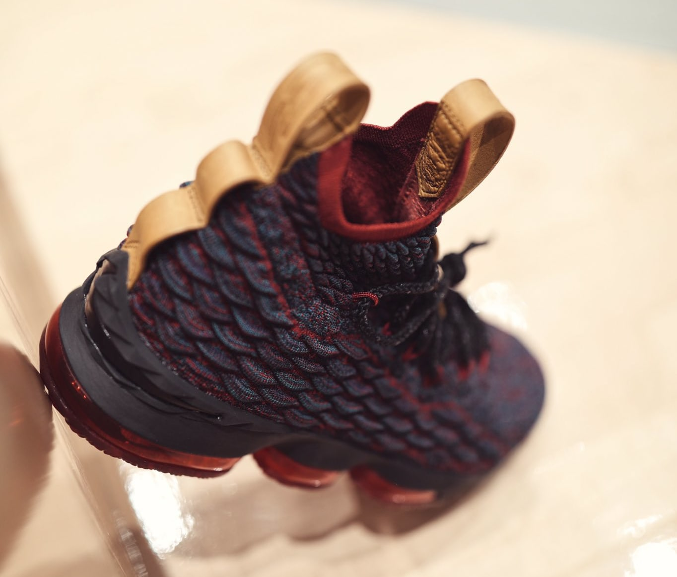 Nike LeBron 15 Cavs New Heights Release Date Heel