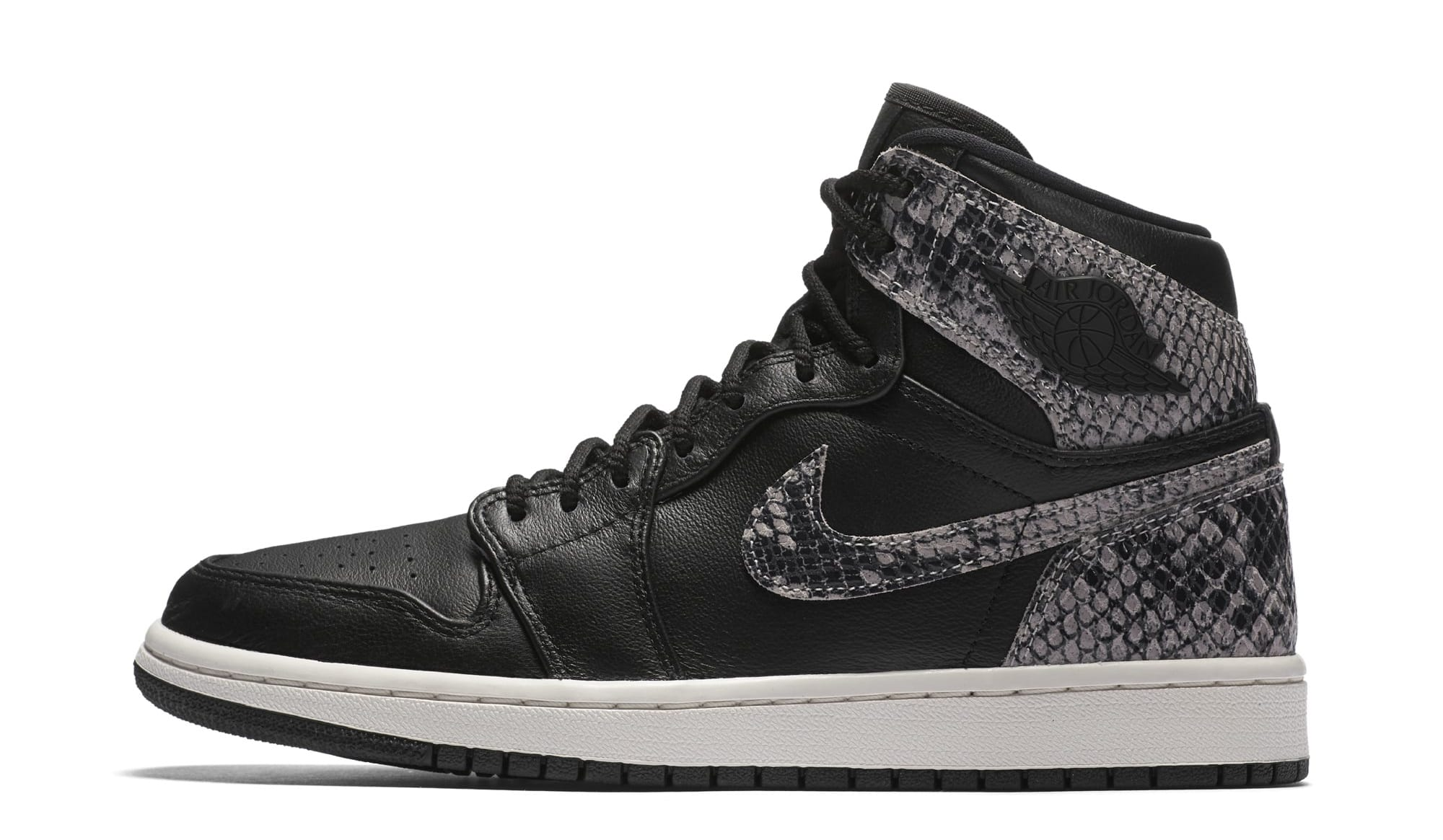Air Jordan 1 Retro High Premium Women's Snake 'Black/Phantom' AH7389-014 (Lateral)