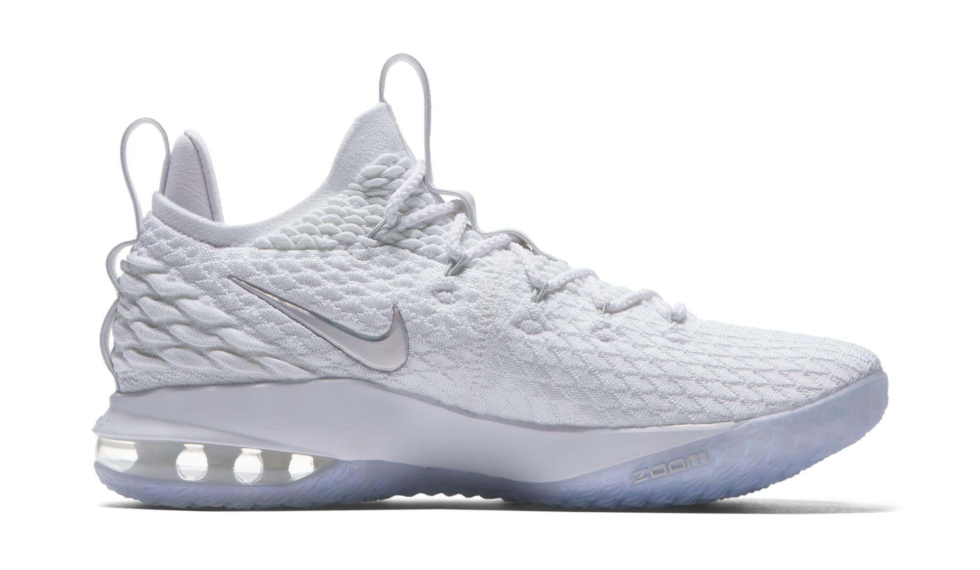 Nike LeBron 15 Low 'White' AO1755-100 (Medial)