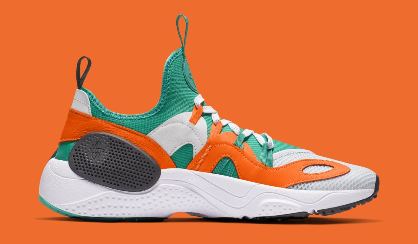 huge selection of cf9a7 4affc Image via Nike Nike Huarache E.D.G.E. TXT QS  White Clear Emerald Total  Orange  BQ5206-