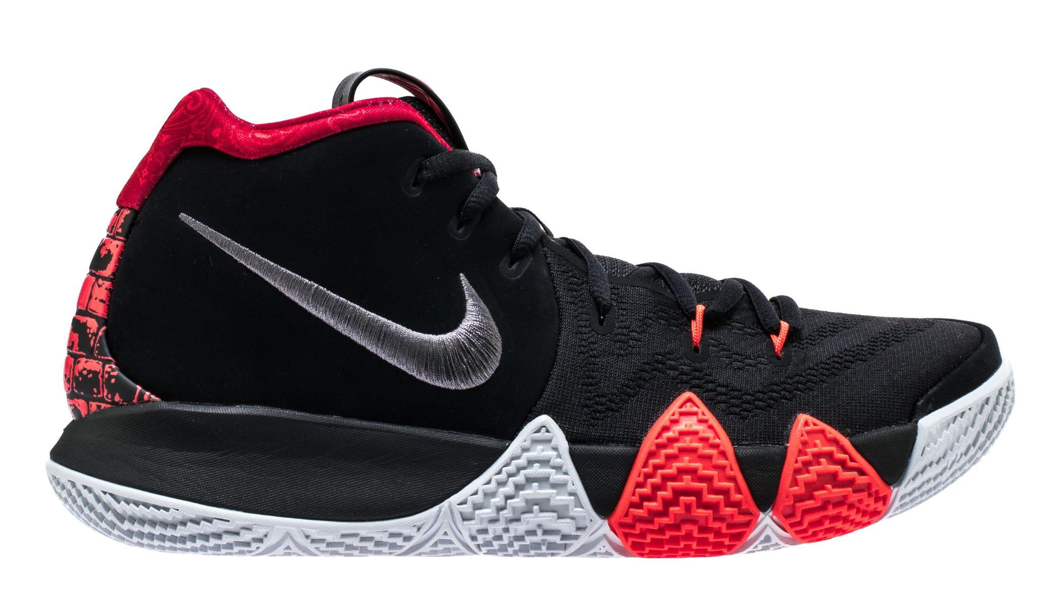 Nike Kyrie 4 'Black/Dark Grey' 943806-005 Release Date | Sole Collector