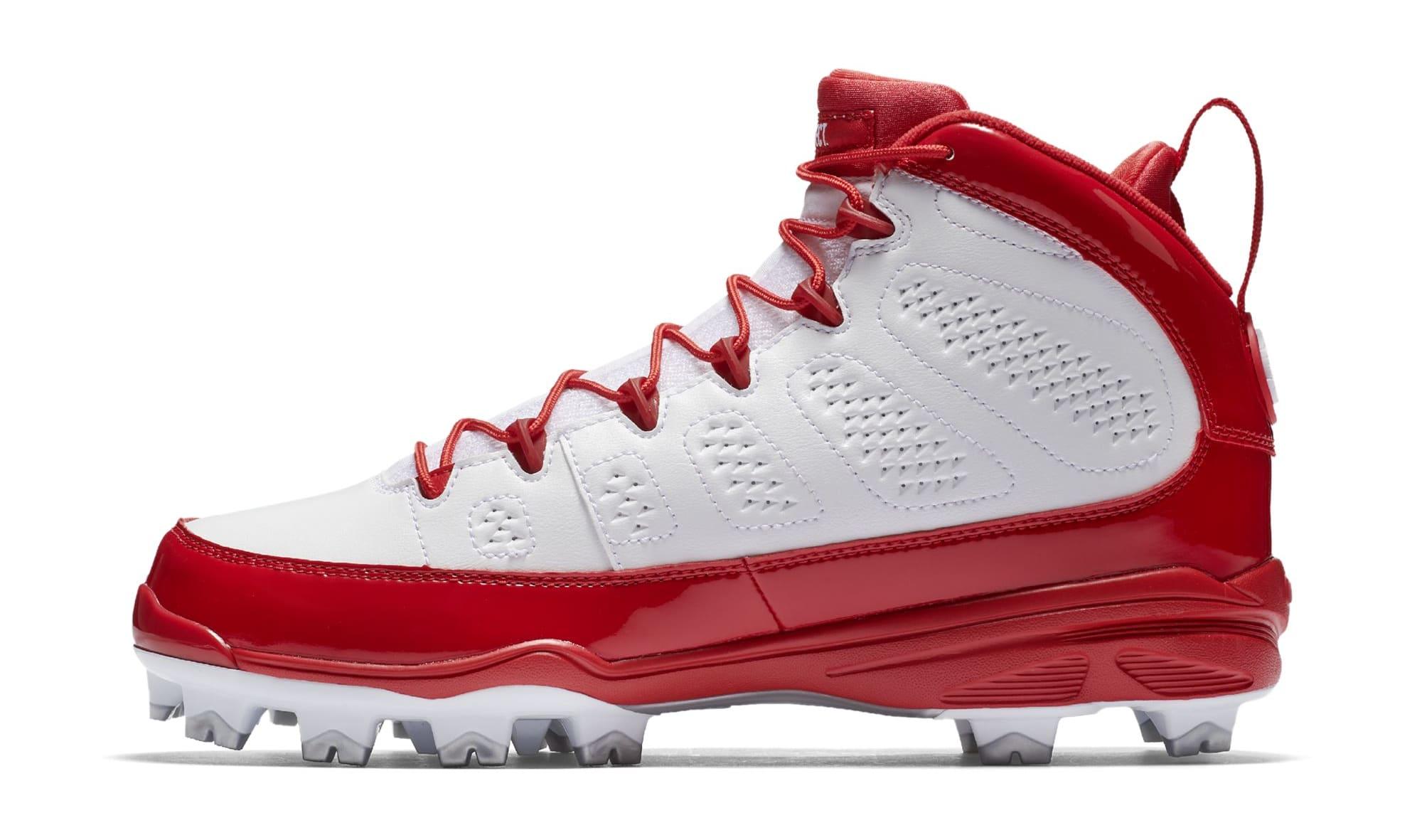... Air Jordan 9 IX MCS Baseball Cleats Red Medial