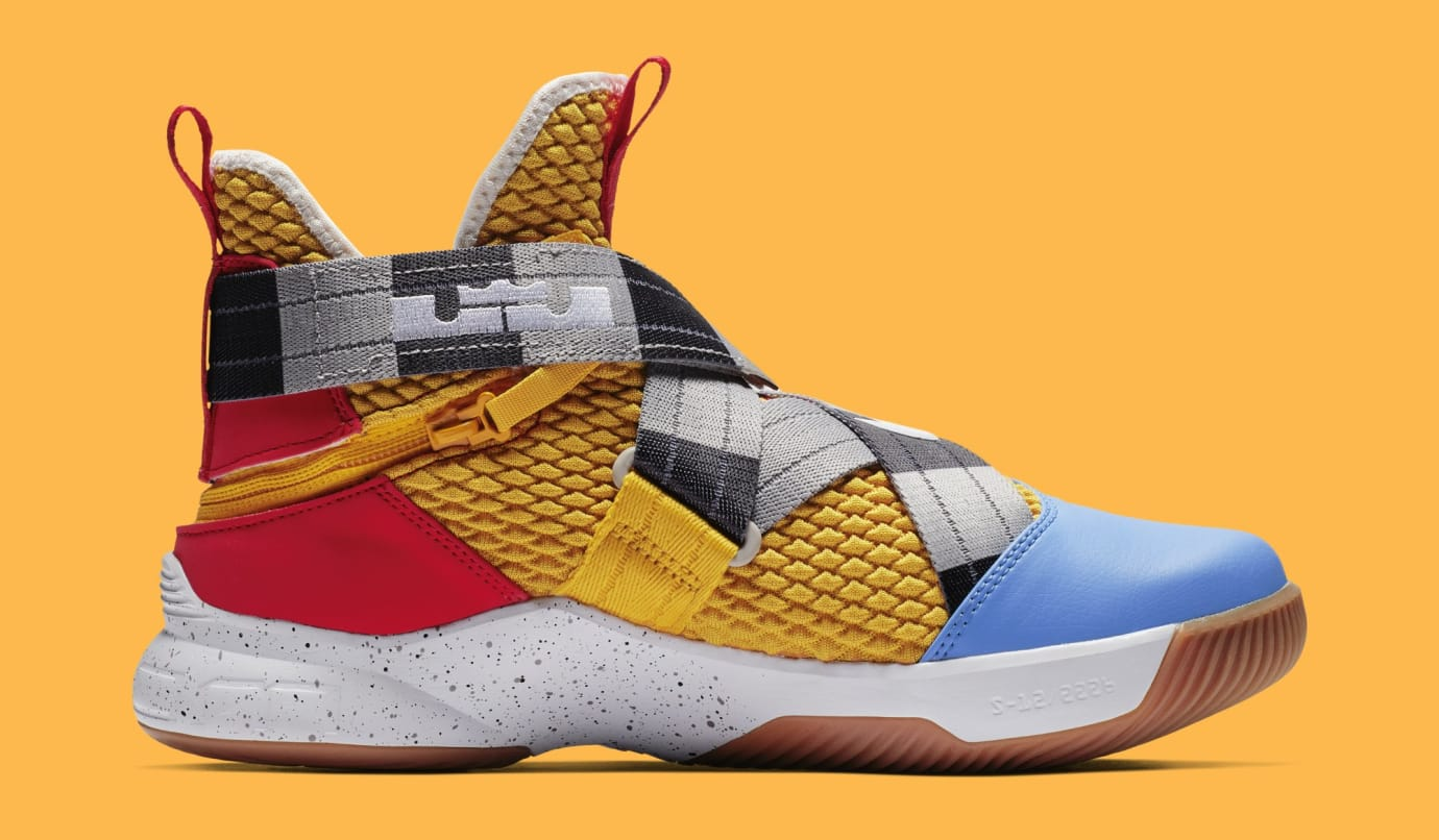 sports shoes cd801 d4be4 Image via Nike Nike LeBron Soldier 12 FlyEase  Arthur  AV3812-700 (Medial)