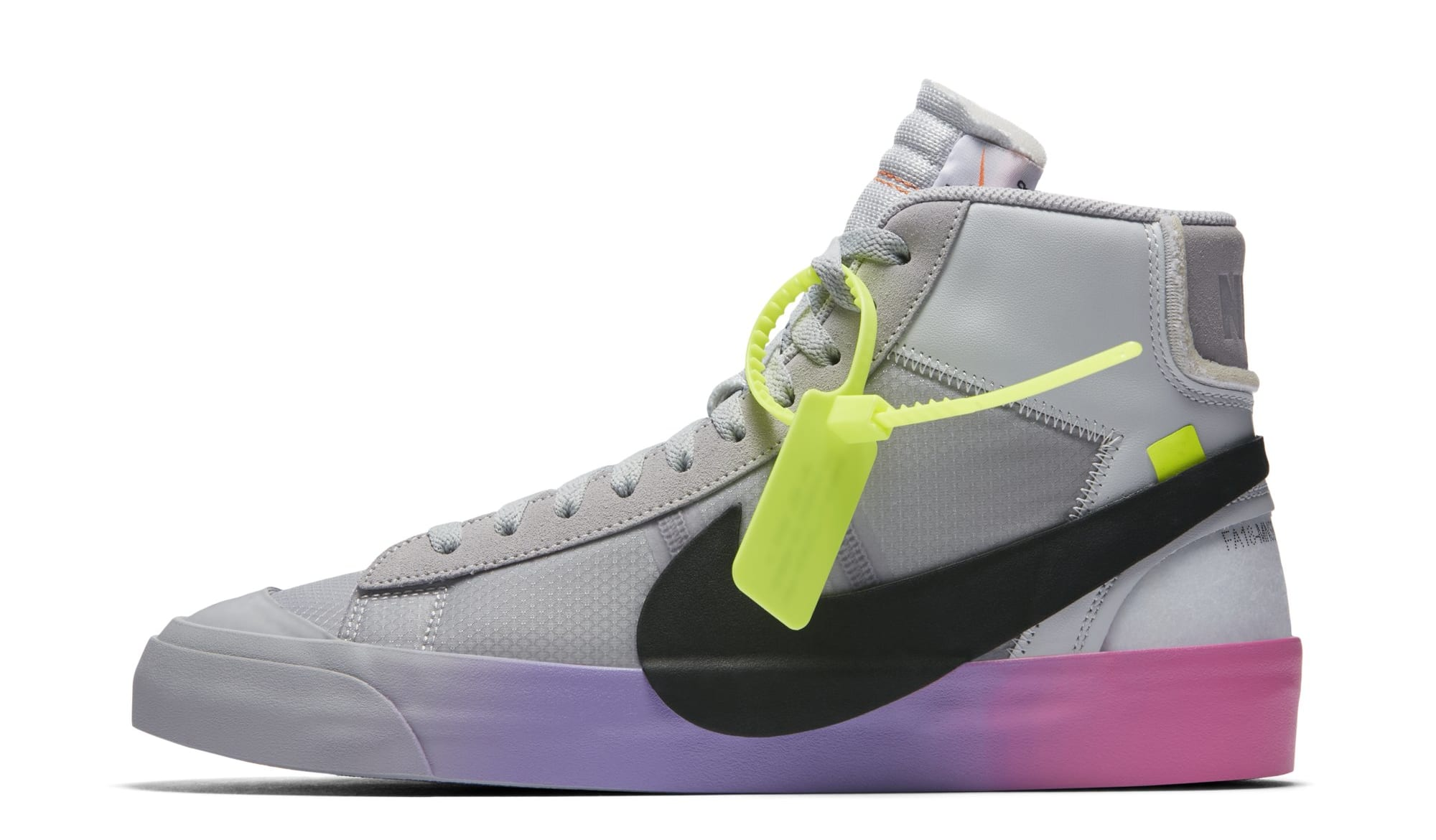 Serena Williams x Off-White x Nike Blazer Mid 'Queen' AA3832-001 (Lateral)