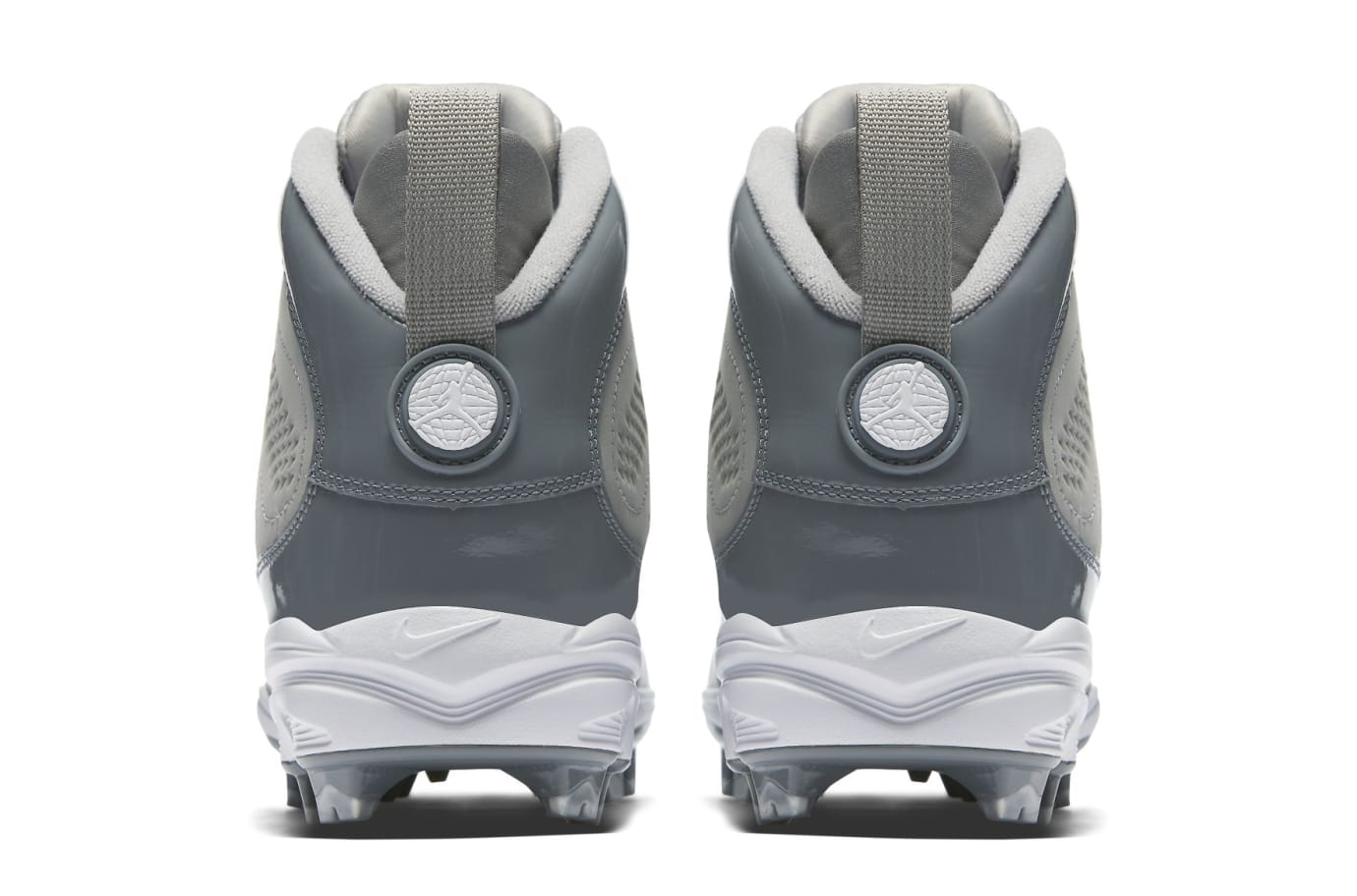Air Jordan 9 IX MCS Baseball Cleats Cool Grey Heel