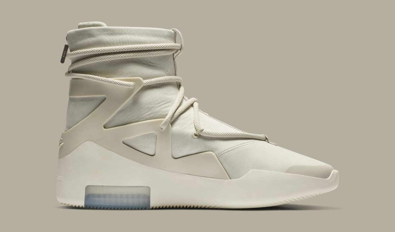 competitive price 83f0d 784d2 Image via Nike Nike Air Fear of God 1  Light Bone Black  AR4237-002 (