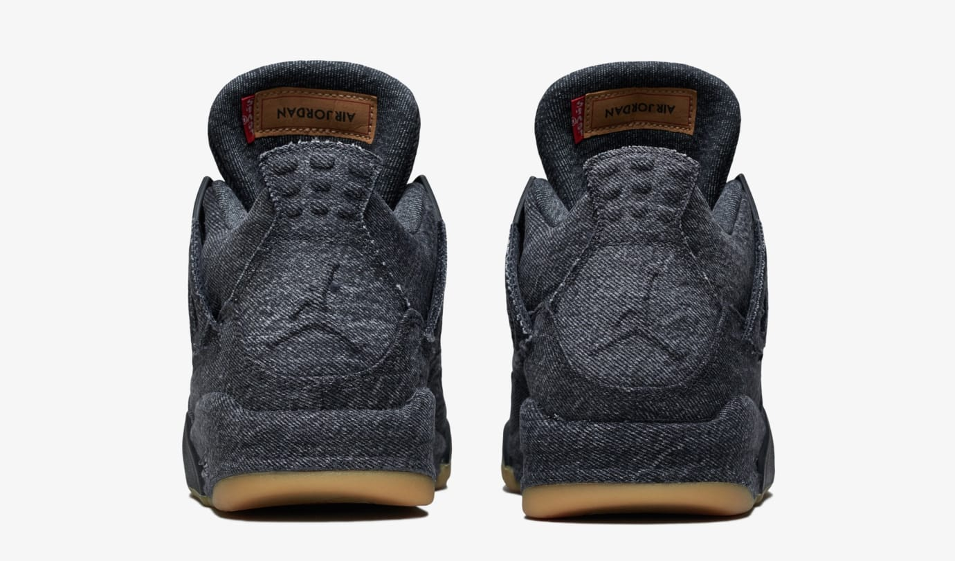 Levi's x Air Jordan 4 'Black' AO2571-001 (Heel)
