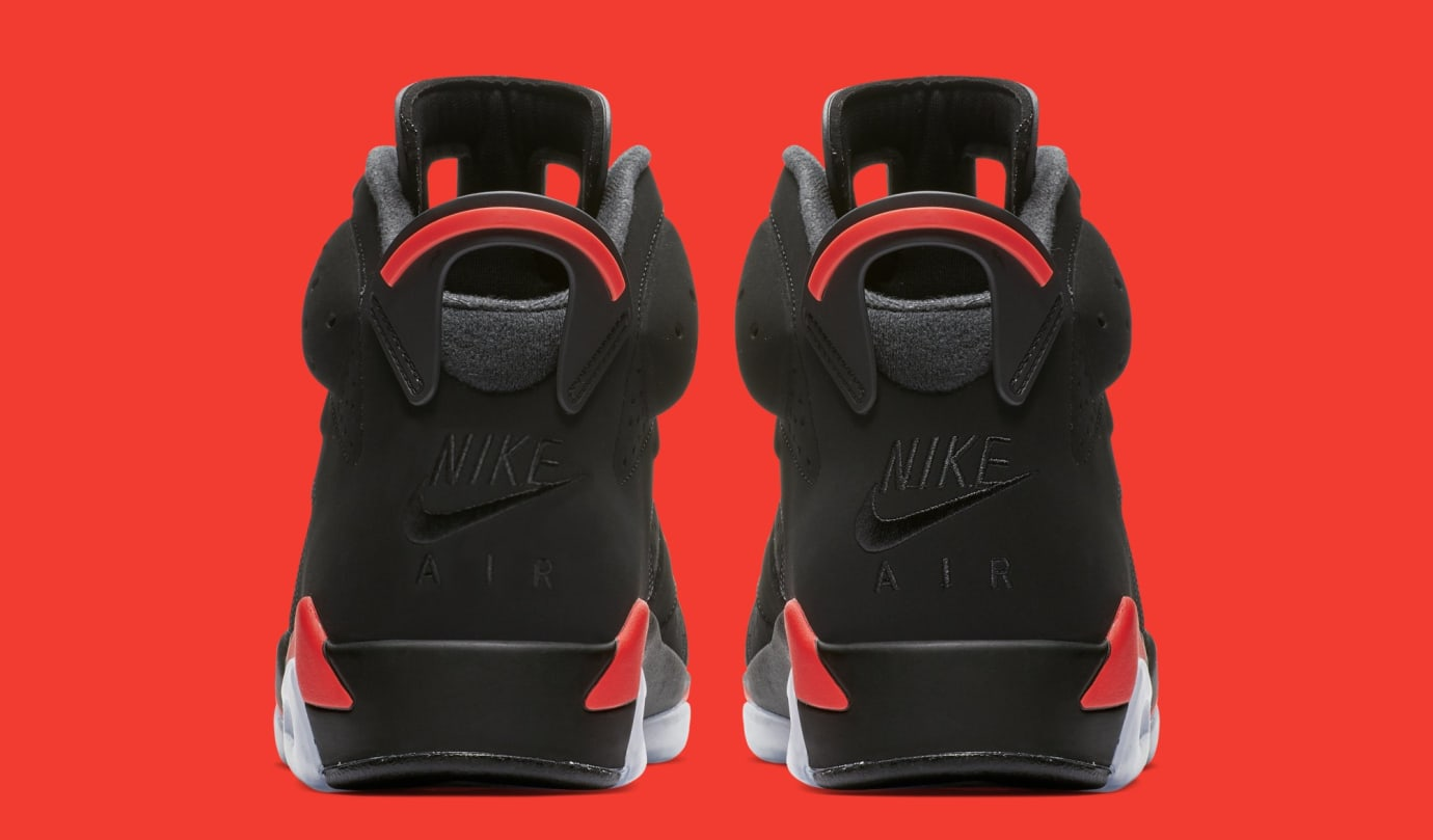 finest selection 30251 75e3f Image via Nike Air Jordan 6  Black Infrared  384664-060 (Heel)