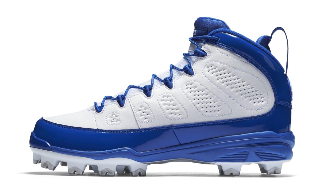 Air Jordan 9 IX MCS Baseball Cleats Royal Medial
