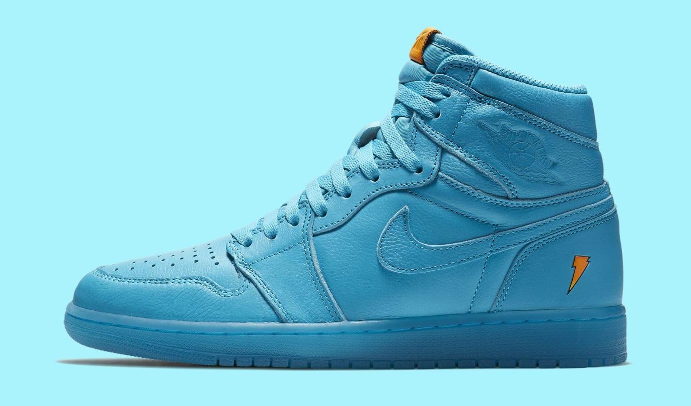 a00095f098bc15 Air Jordan 1 High Gatorade Blue Lagoon AJ5997-455