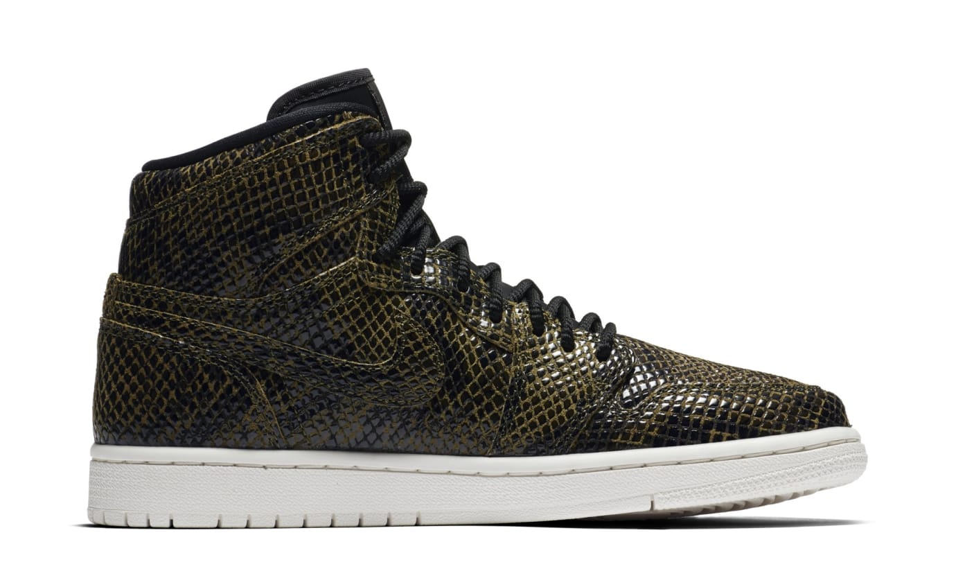 Air Jordan 1 Retro High Premium Women's Snake 'Olive Canvas' AH7389-302 (Medial)