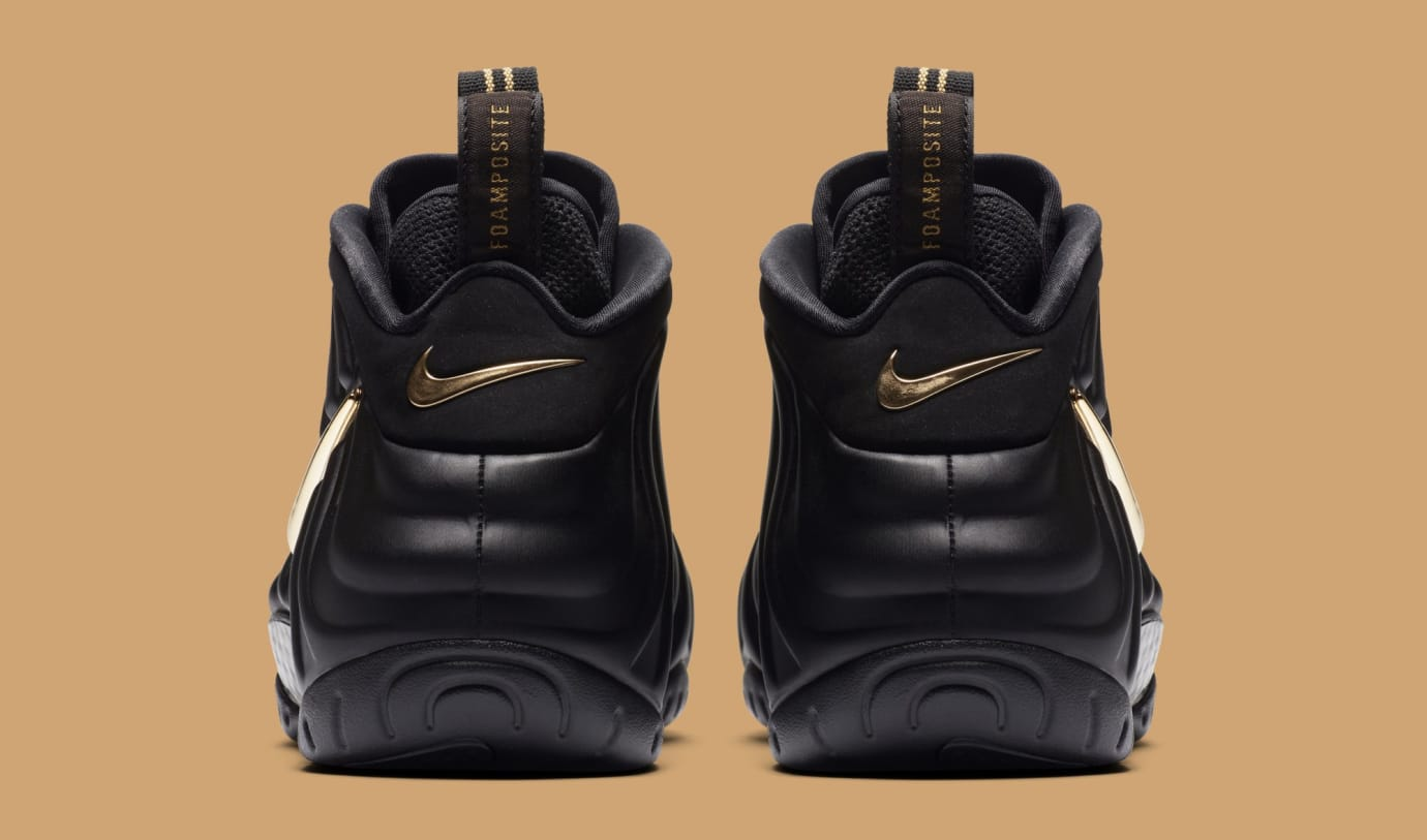 ad1d486445491 ... clearance image via nike nike air foamposite pro black metallic gold  624041 009 heel c0071 9e7ac