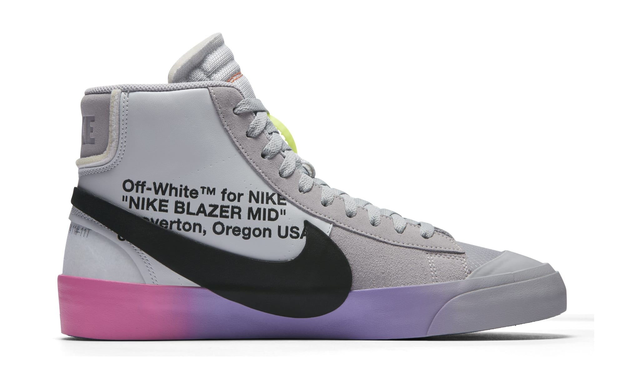 Serena Williams x Off-White x Nike Blazer Mid 'Queen' AA3832-001 (Medial)