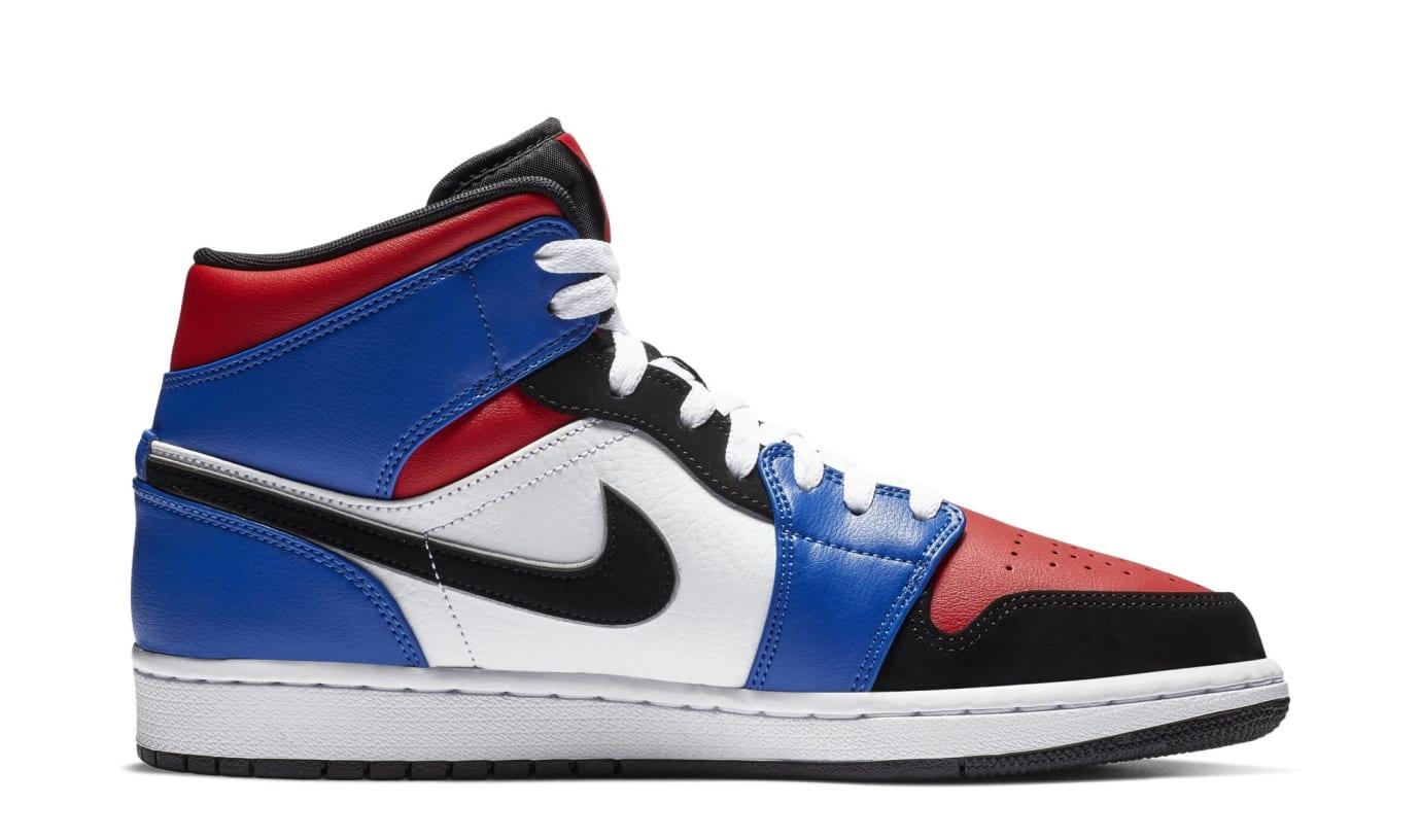 Air Jordan 1 Mid 'Blue/Red/White/Black' 554724-124 (Medial)