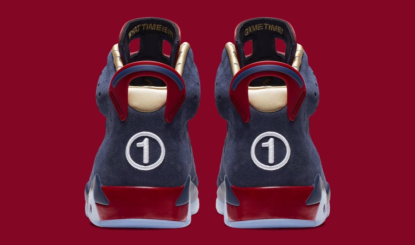 9e6b4146f22ce5 Image via Nike Air Jordan 6  Doernbecher  CI6293-416 (Heel)
