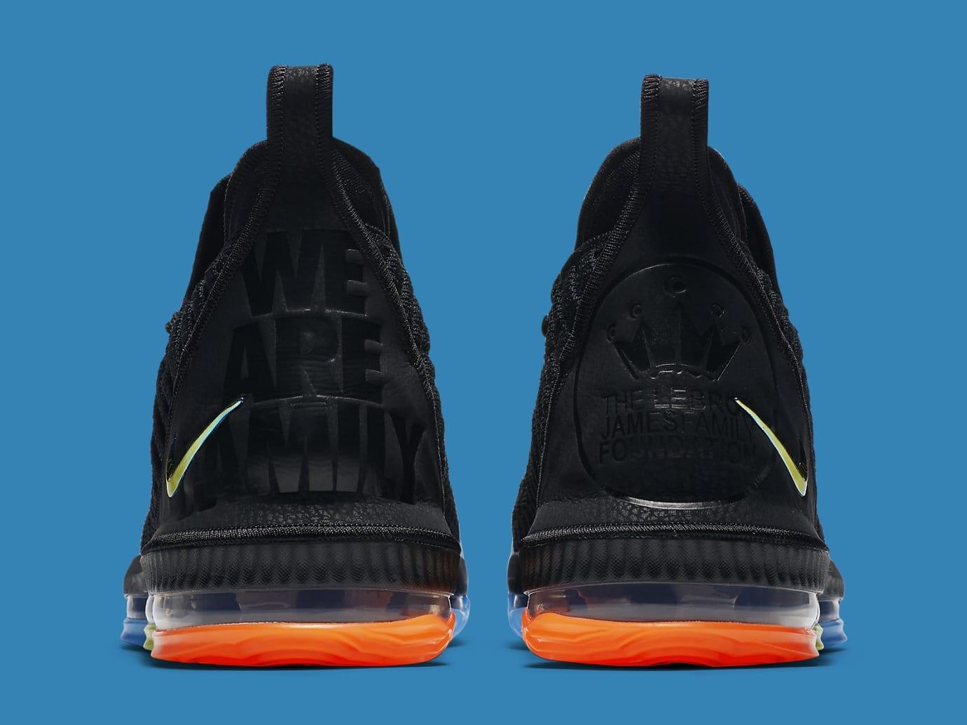 buy online 9758f 8816f Image via Nike Nike LeBron 16 I Promise Release Date AO2595-004 Heel