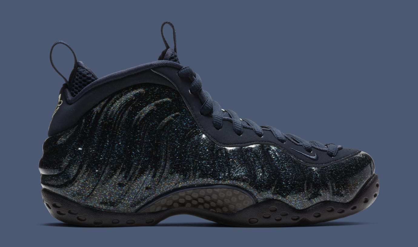 90456033550a39 Image via Nike WMNS Nike Air Foamposite One  Obsidian  AA3963-400 (Medial)