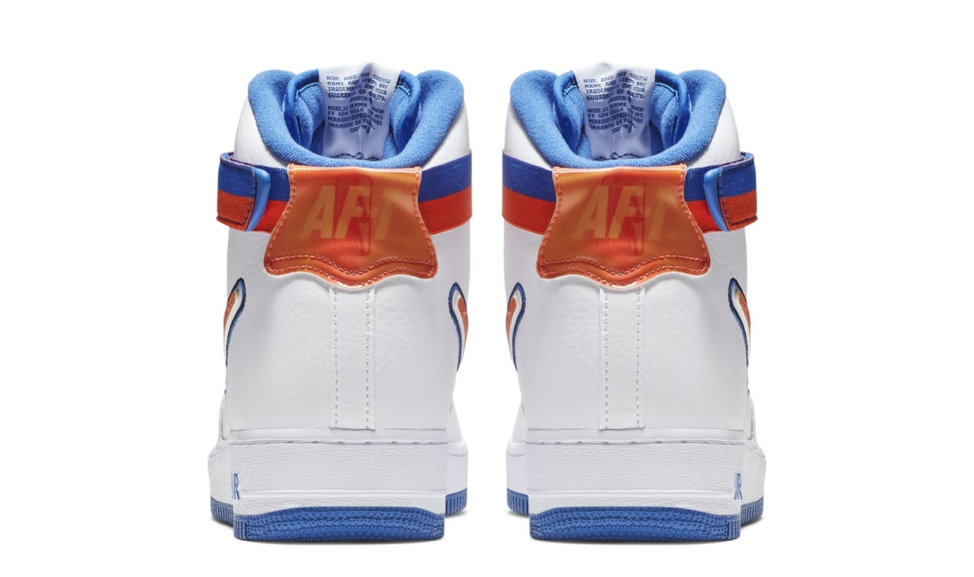 pretty nice 27c09 c6982 Image via Nike Nike Air Force 1 High  Knicks  AV3938-100 (Heel)