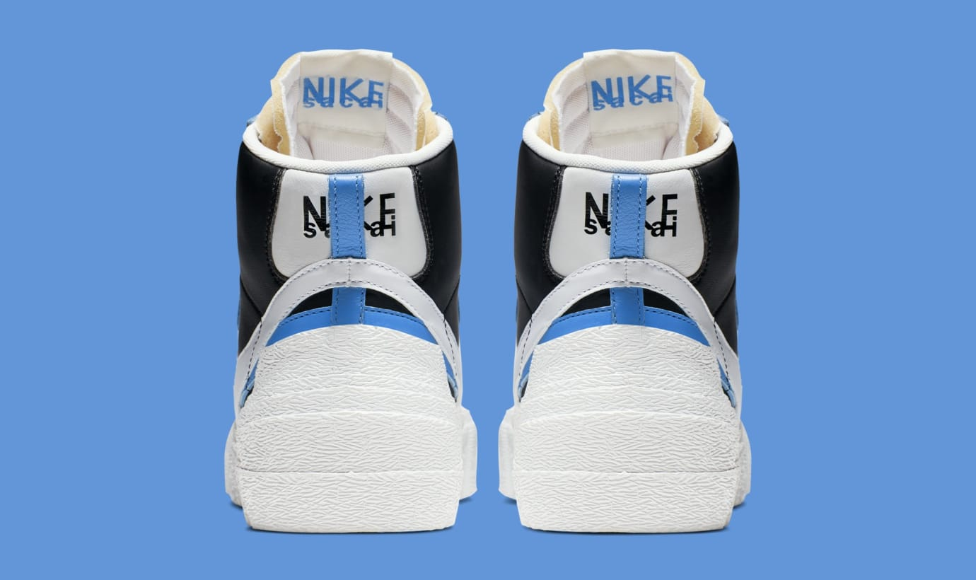 f6b4f7eedfc4ef Image via Nike Sacai x Nike Blazer High  Black White University Blue Sail   BV0072
