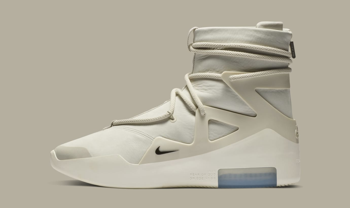 Nike Air Fear of God 1 'Light Bone/Black' AR4237-002 (Lateral)