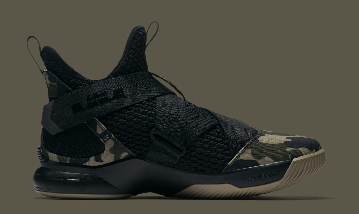 03e8e9e6da94 Image via Nike Nike LeBron Solider 12 SFG  Hazel Rush  AO4054-001 (Medial)