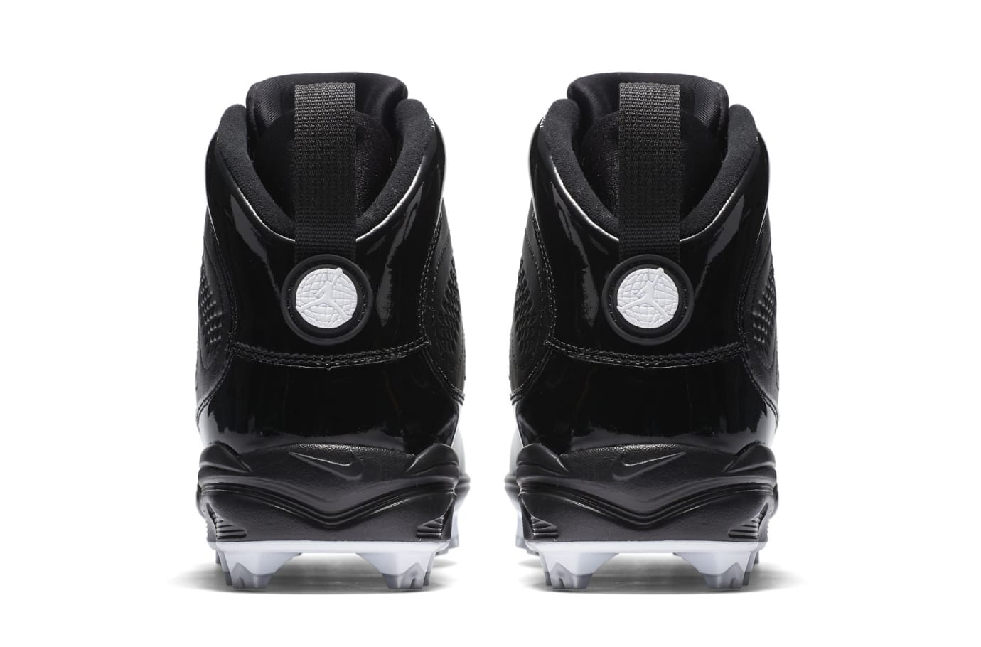 28f04dced ... Air Jordan 9 IX MCS Baseball Cleats Black Heel ...