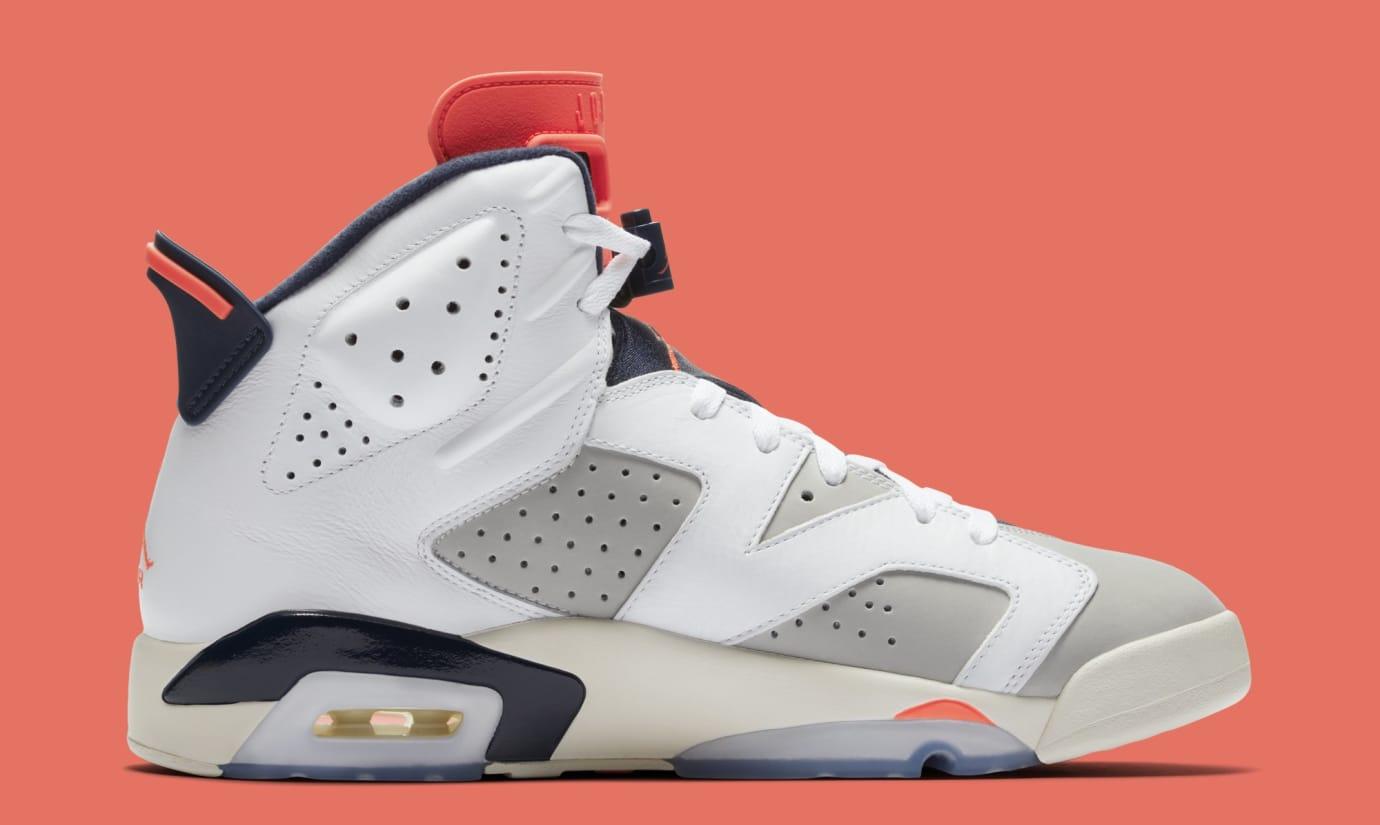 6a52bdbddd3f Image via Nike Air Jordan 6 Retro  Tinker  384664-104 (Medial)
