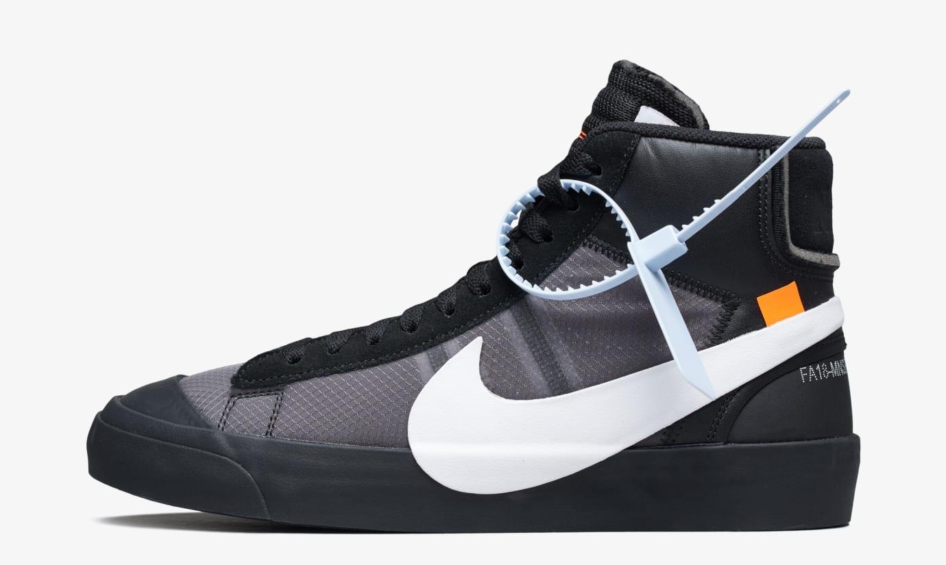 Off-White x Nike Blazer 'Grim Reeper' AA3832-001 (Lateral)