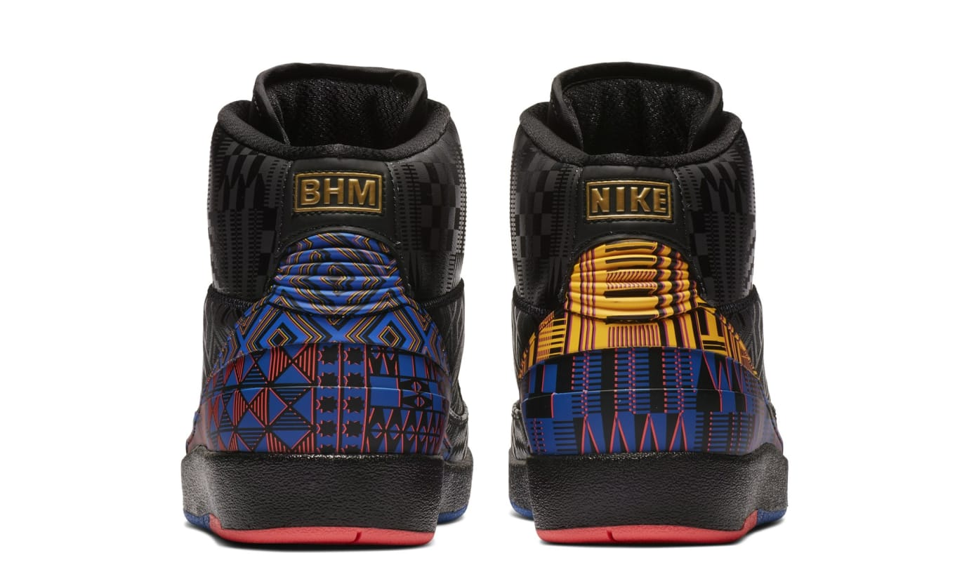 68445e3b833638 Image via Nike Air Jordan 2  BHM  BQ7618-007 (Heel)
