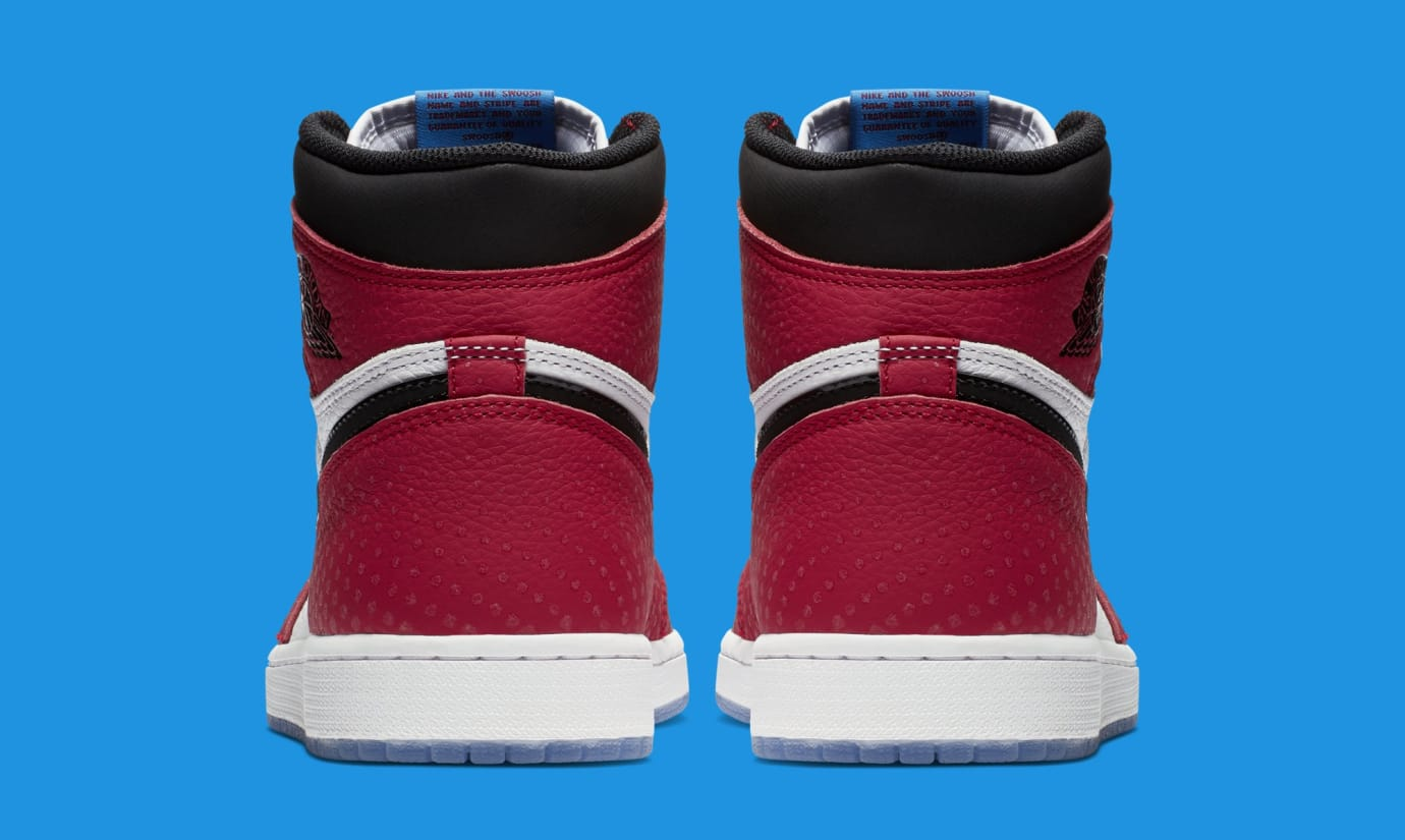 Air Jordan 1 'Origin Story' Red/White-Photo Blue-Black 555088-602 (Heel)