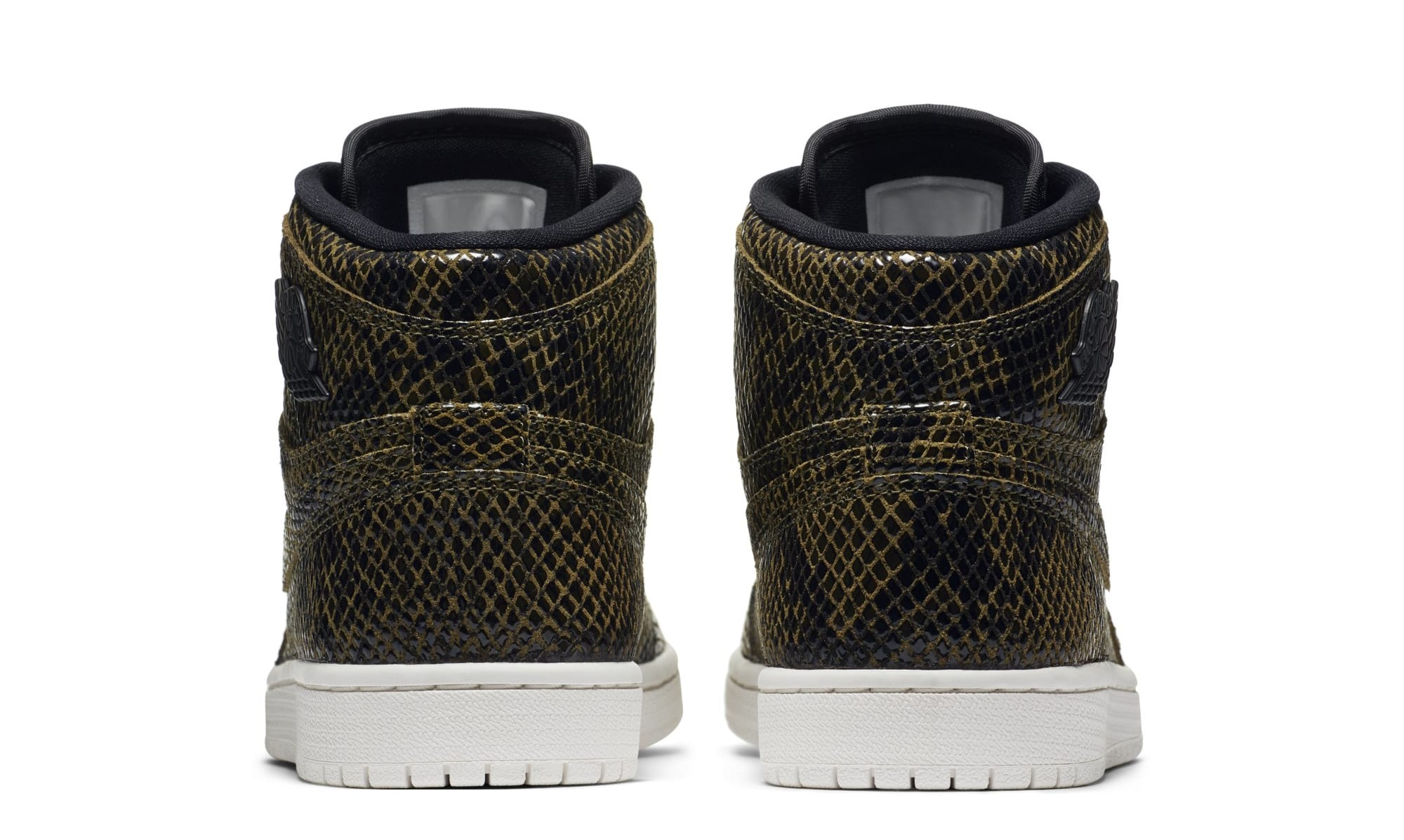 Air Jordan 1 Retro High Premium Women's Snake 'Olive Canvas' AH7389-302 (Heel)