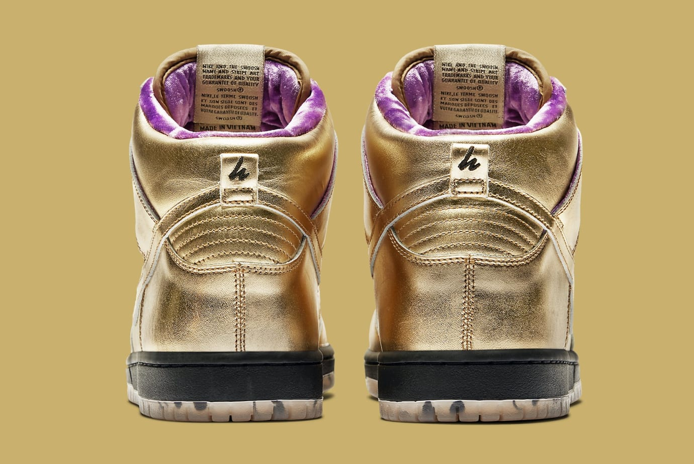 Humidity x Nike SB Dunk High Trumpet Tricentennial Release Date AV4168-776 Heel