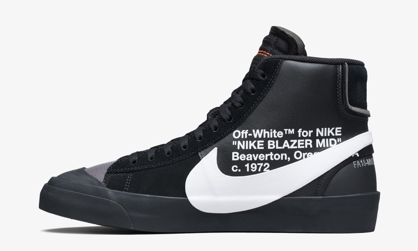 hot sale online eaf67 a5137 Image via Nike Off-White x Nike Blazer Grim Reeper AA3832-001 (Medial)