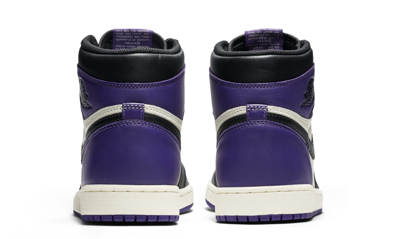 e4ae2bc4755 Image via Nike Air Jordan 1 High OG  Court Purple  555088-501 (Heel)