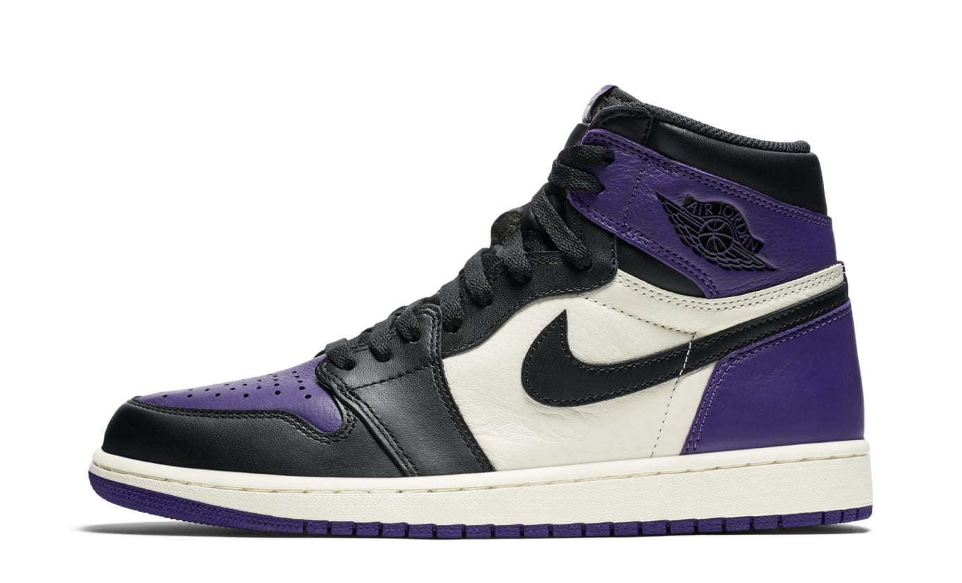 Air Jordan 1 I Court Purple Sail Black Release Date 555088-501 ... 6cd04a091