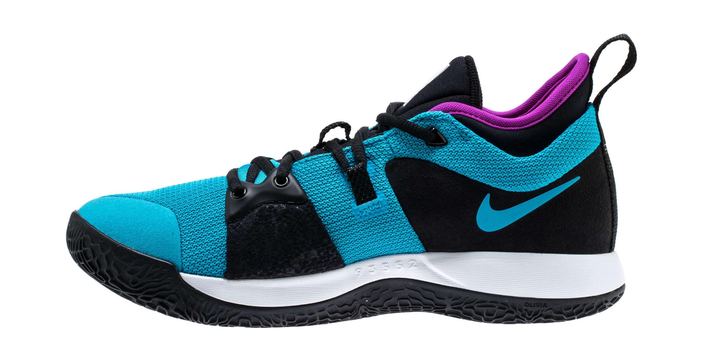 Nike PG2 'Blue Lagoon/Hyper Violet/White' AJ2039-402 (Medial)
