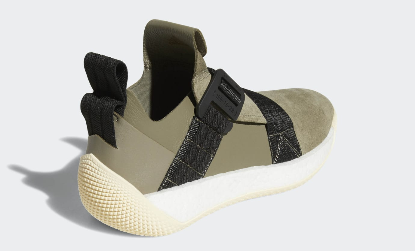 new style 51d49 0bd5d Image via Adidas Adidas Harden LS 2 Buckle  Olive  AQ0020 (Heel)