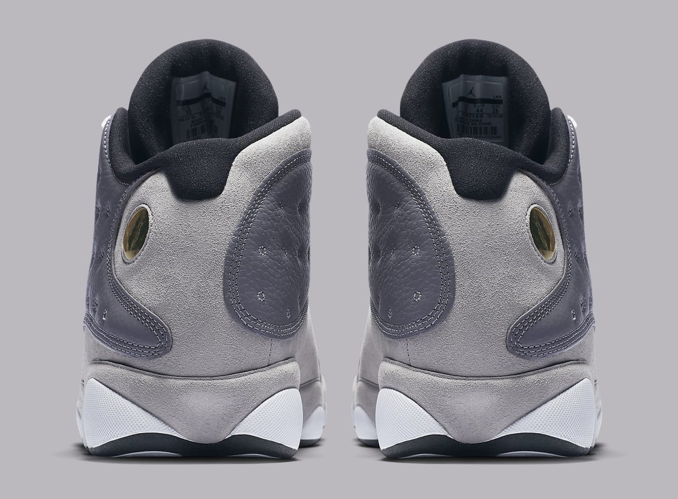 new products 75f6b c0236 Image via Nike Air Jordan 13 XIII Atmosphere Grey Release Date 414571-016  Heel