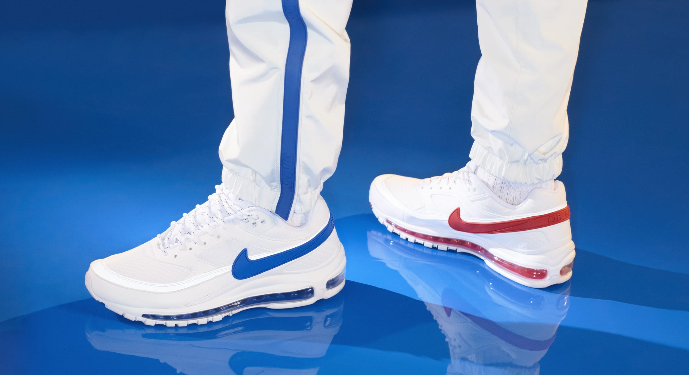 Skepta x Nike Air Mad 97 BW SK (On-Foot Blue)