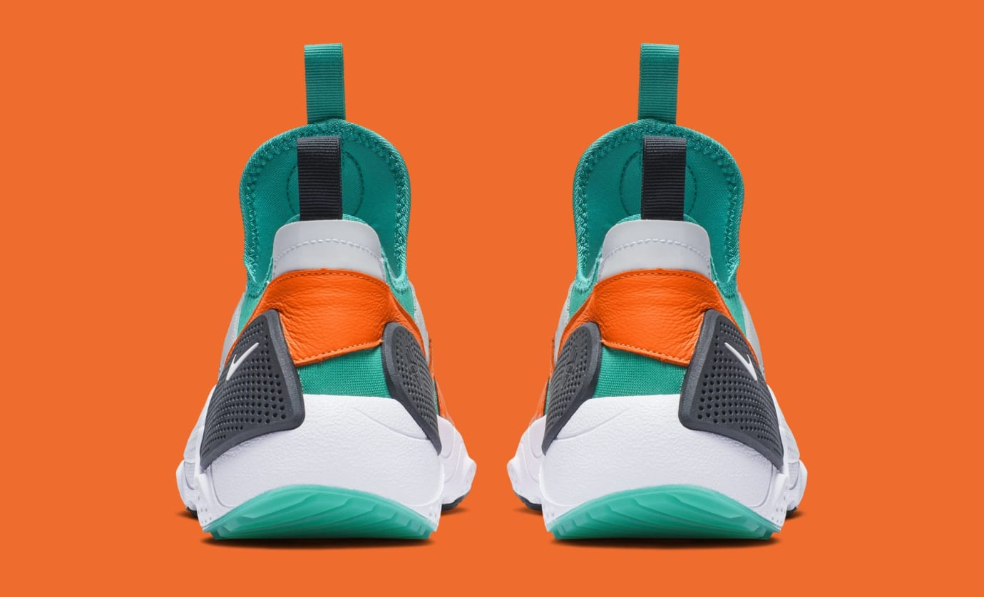Nike Huarache E.D.G.E. TXT QS 'White/Clear Emerald/Total Orange' BQ5206-100 (Heel)