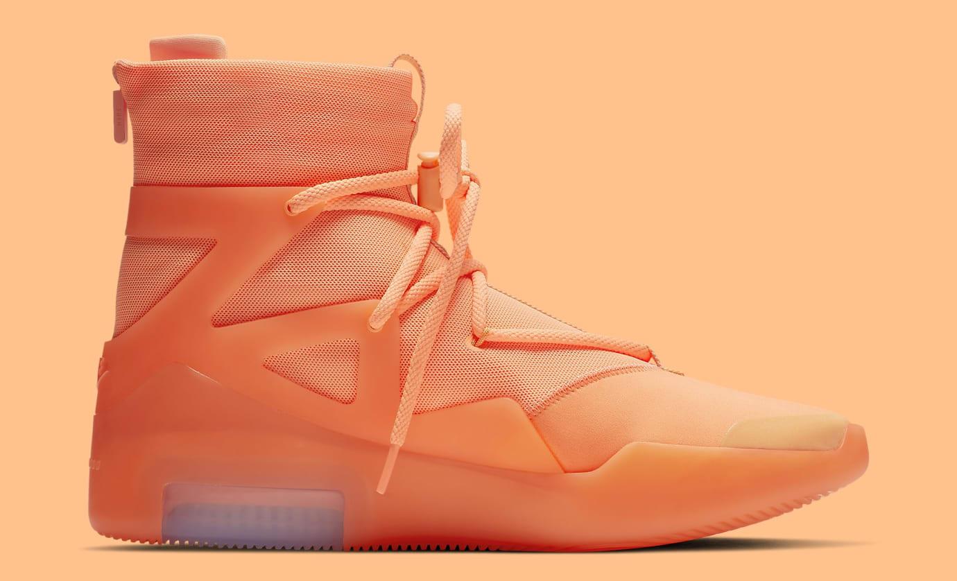 buy popular d1d35 25a71 Image via Nike Nike Air Fear of God 1  Orange Pulse  AR4237-800 Medial