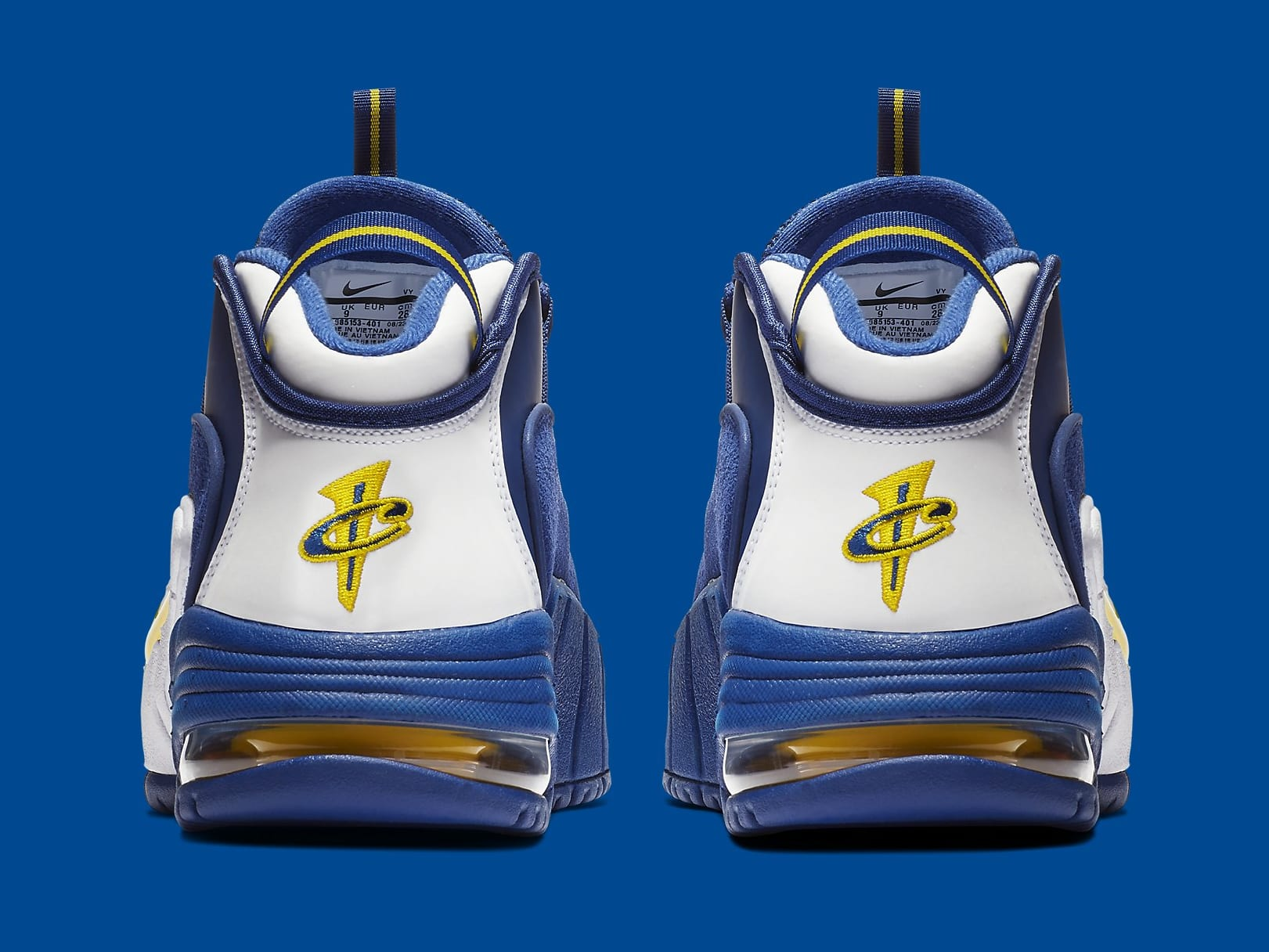 Nike Air Max Penny 1 Warriors Release Date 685153-401 Heel